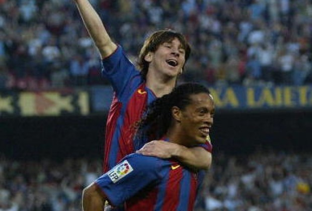 The pair enjoyed a close relationship, as Ronaldinho took Messi under his wing