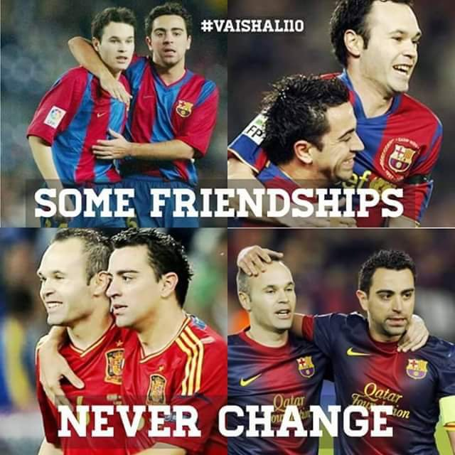 Xavi and Iniesta - best friends forever