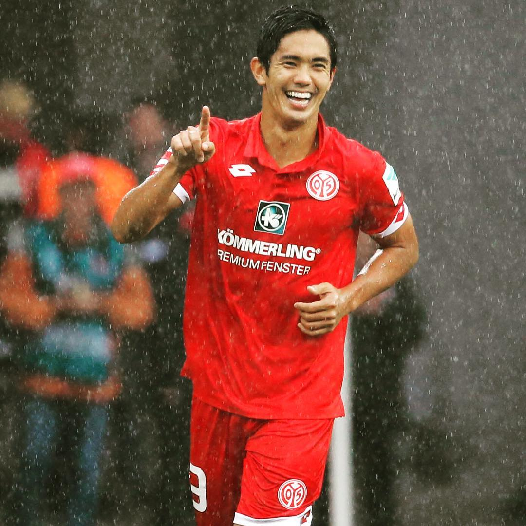 Torschütze zum 31-Endstand Yoshinori #Muto #Mainz05