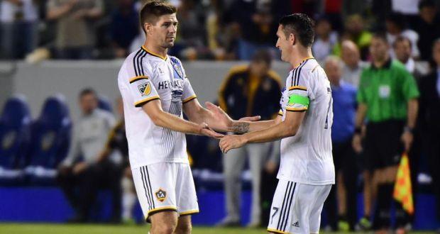 Robbie Keane Steven Gerrard LA Galaxy