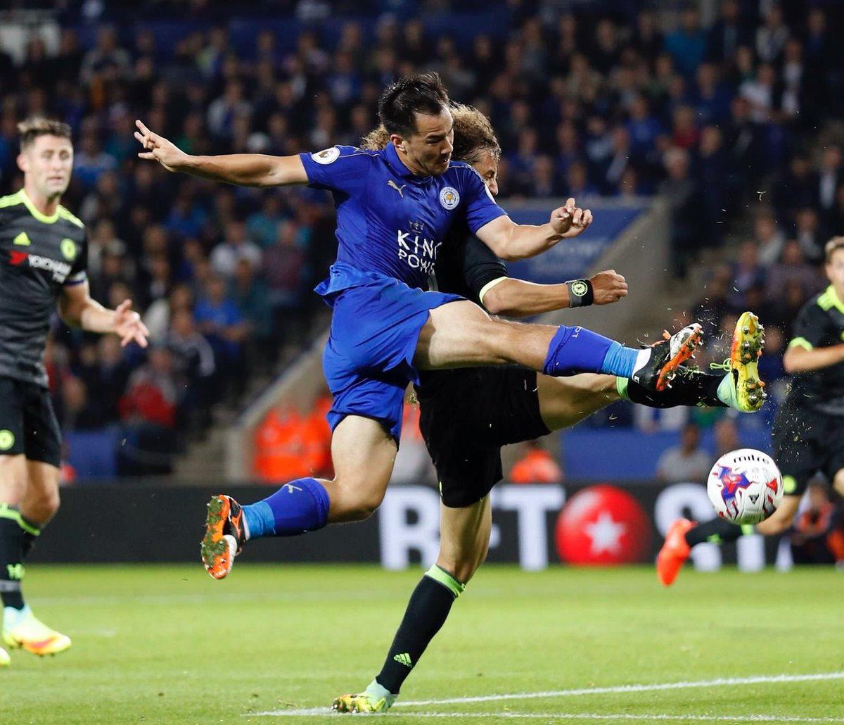 Okazaki has scored his first ever brace for Leicester City after failing to score in his previous 13 games