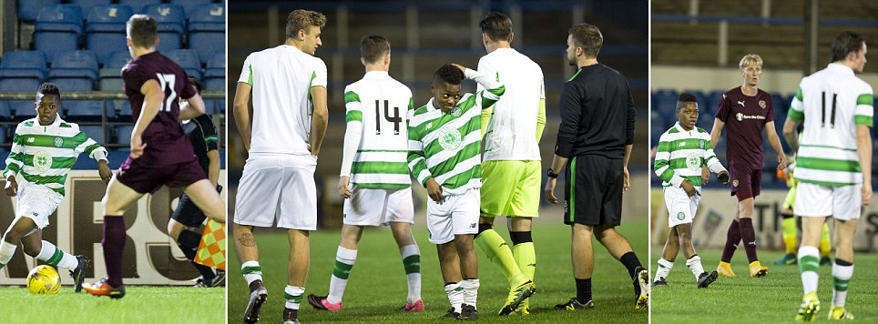 The tiny star who isnt short on talent Celtic play 13-year-old wonderkid in Under 20 match despite opponents towering over him