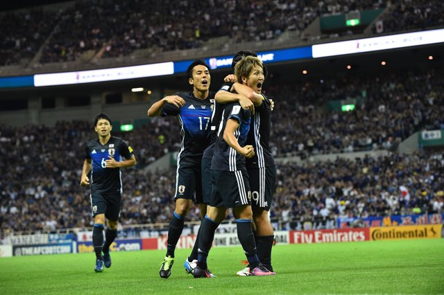 Genki Haraguchi celebrating the opener in the first half