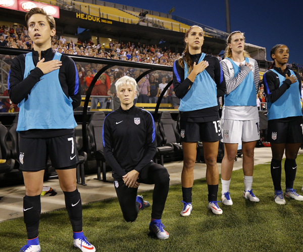 Megan Rapinoe Knocked for Kneeling During National Anthem