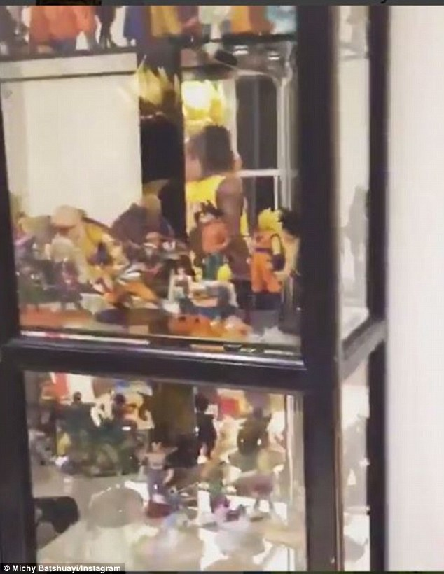 Batshuayis museum features a large glass cabinet filled with miniature collectable toys
