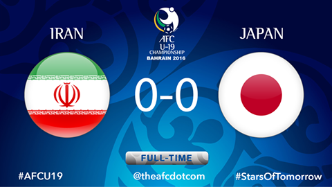 Iran and Japan share the points after a goalless draw in their #AFCU19