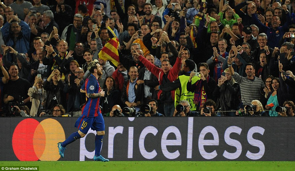 The Spaniards words didnt have the desired impact as Barcelona doubled their lead courtesy of Messi