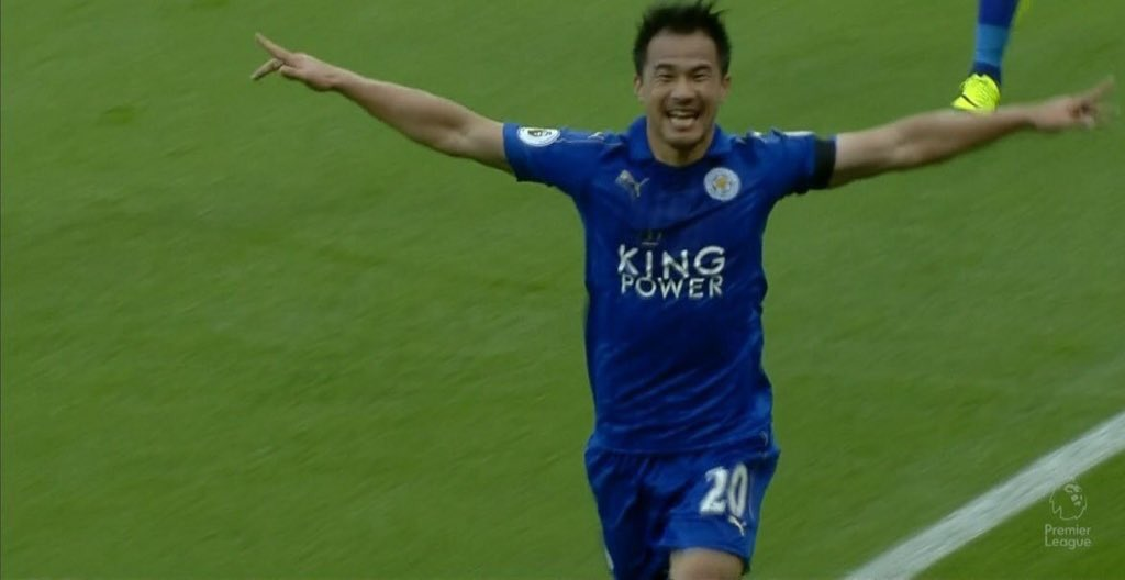 okazakiofficial goal is the best thing ever looks so happy when he scores absolutely love it