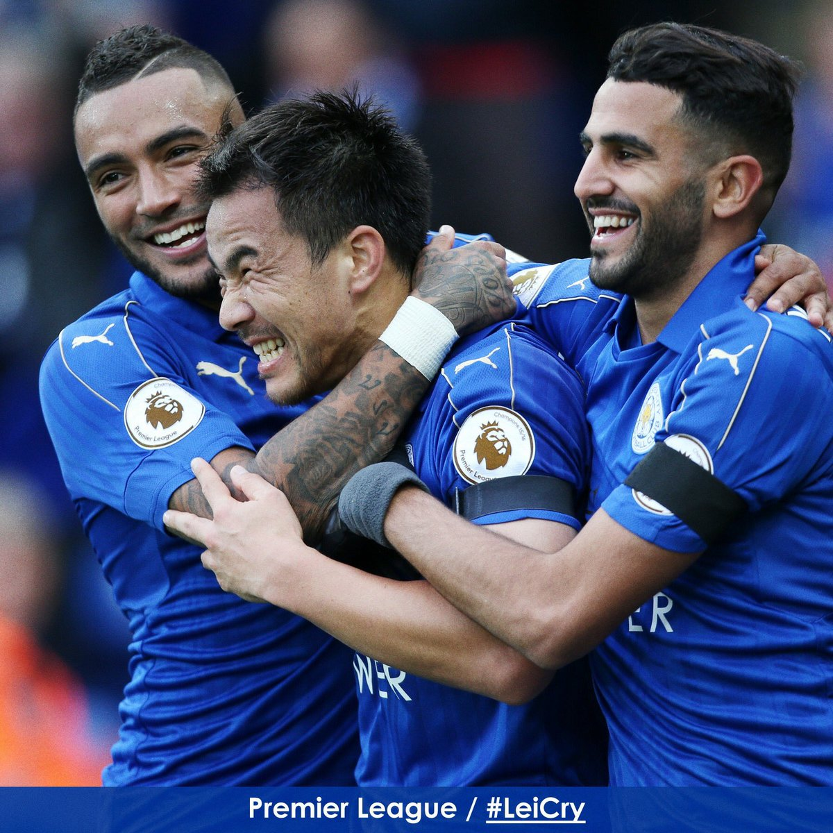 Good performance from the team today @okazakiofficial face says it all hahaha Congratulations Musa and @FuchsOfficial