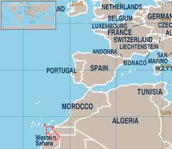 Las Palmas europe map