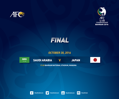 We have our #AFCU19 finalists! japan vs saudi