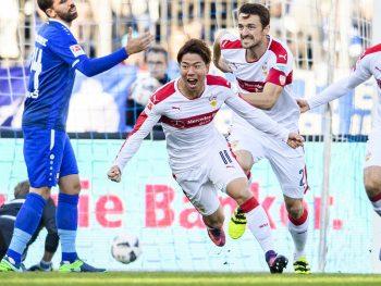 asano takuma first goal at Stuttgart