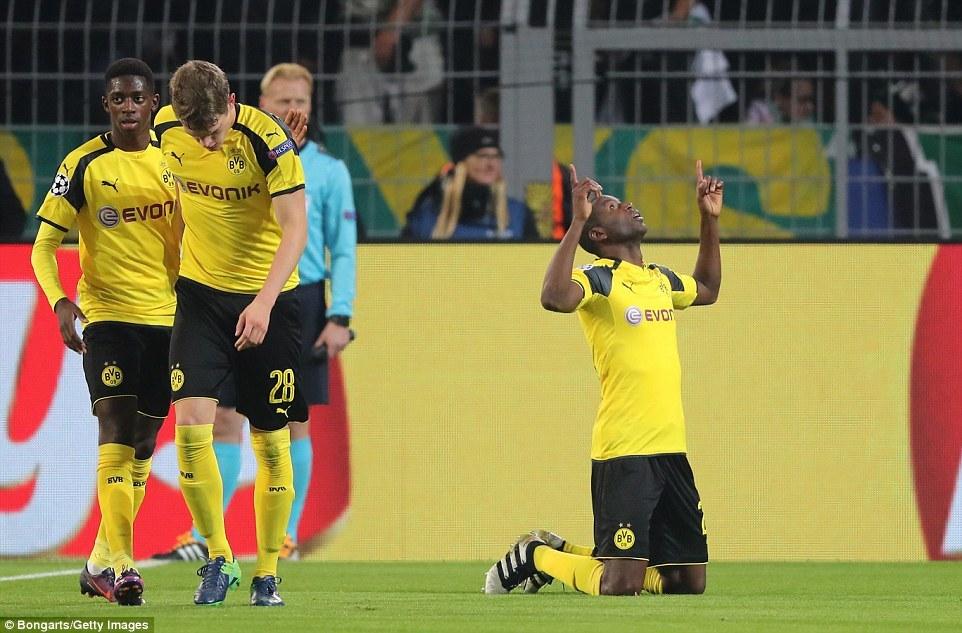 Dortmund 1-0 Sporting Lisbon Adrian Ramos goal proves crucial at Signal Iduna Park