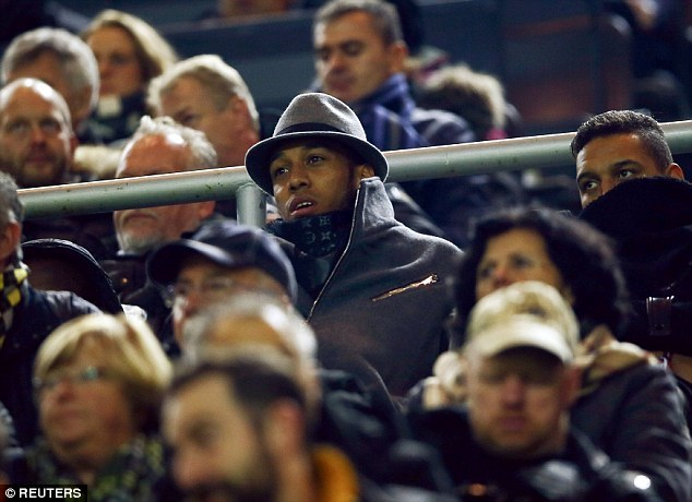 Aubameyang was spotted watching Borussia Dortmund face Sporting Lisbon