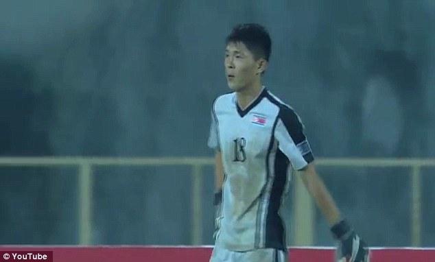 North Koreas goalkeeper Jang Paek Ho reacts after his massive howler against Uzbekistan in the Under-16 Asian Championships
