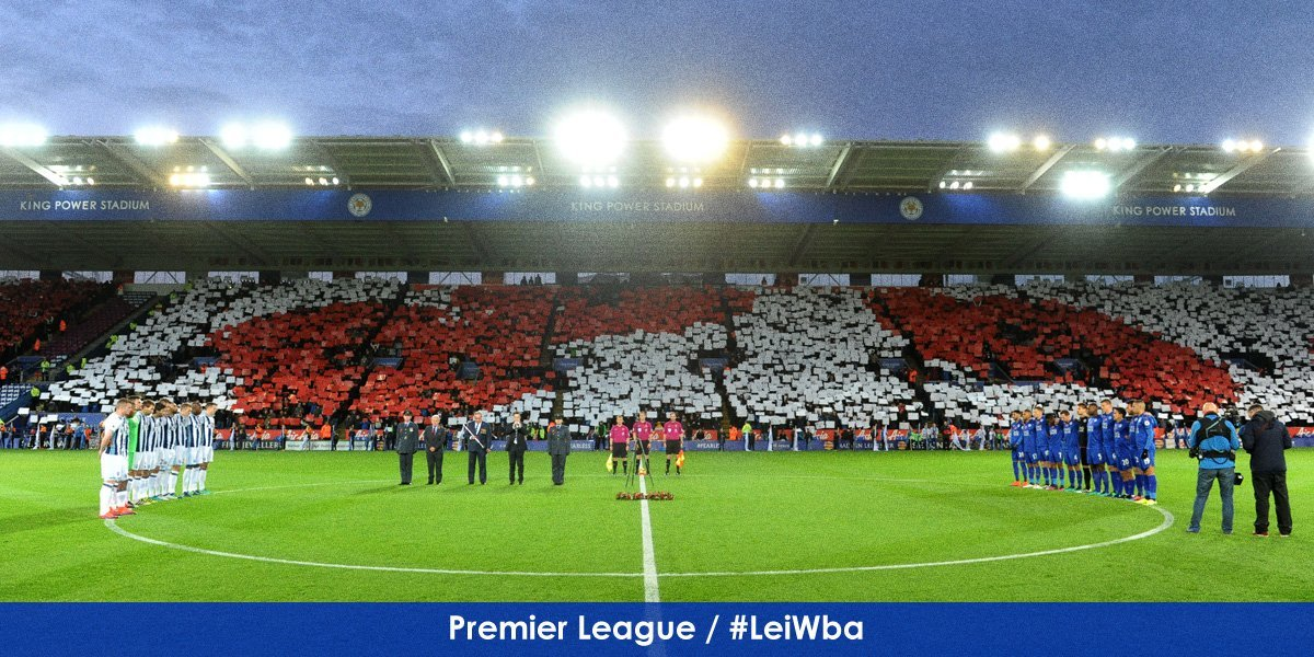 A fitting pre-match tribute as #FootballRemembers at King Power Stadium