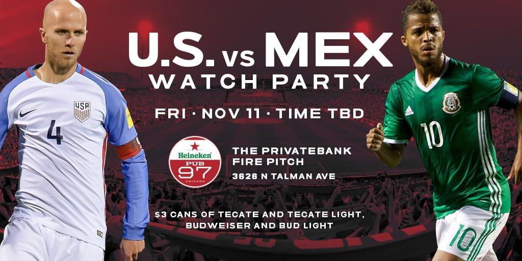 #USAvMEX Watch Party on Nov 11 at @HeinekenPub97❗️ #RoadToRussia