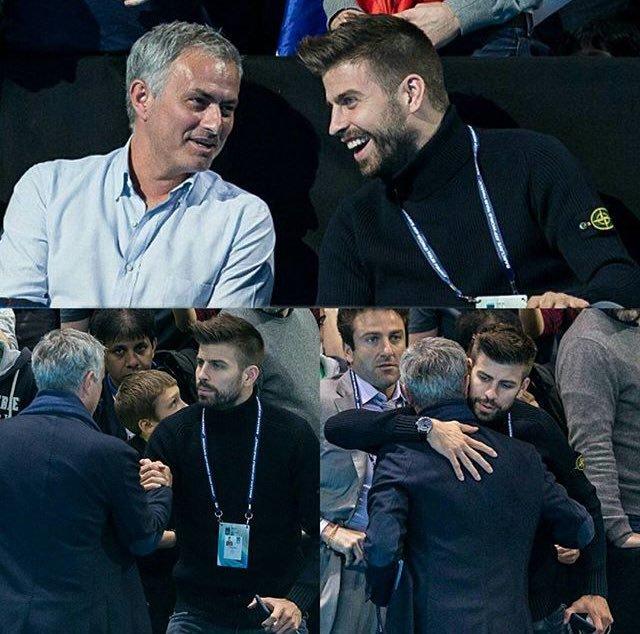 Mourinho Piqué at ATP Finals
