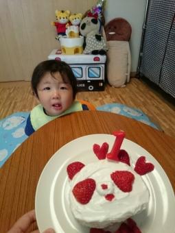 おばぶケーキでお祝い