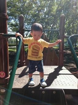 こばぶ公園で遊ぶ