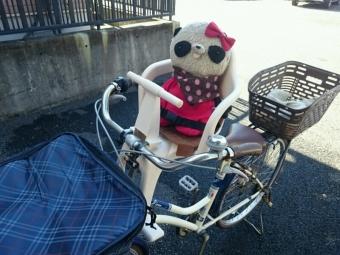 おばぶも自転車に乗る