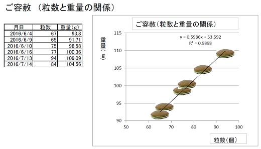 ご容赦グラフ(DORA)