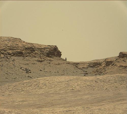 キュリオシティから送られてきた火星の風景