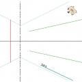 スマイル折り紙図破線