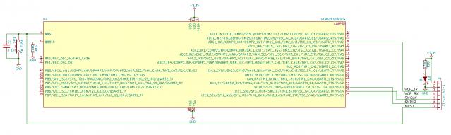 STM32F303K8 オリジナルボード回路図