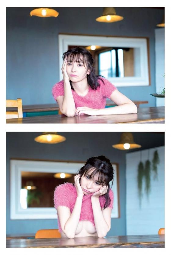 山崎真実 週プレのDカップノーブラセミヌードグラビア 画像23枚 3