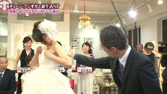 加藤綾子 Dカップ谷間をウェディングドレスで披露したキャプ 画像30枚 18