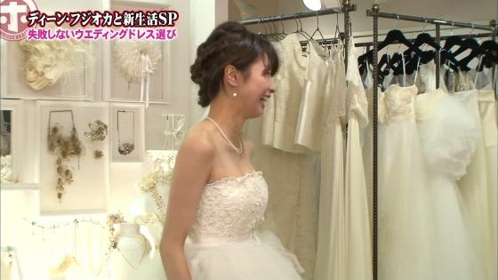 加藤綾子 Dカップ谷間をウェディングドレスで披露したキャプ 画像30枚 3