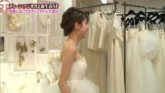 加藤綾子 Dカップ谷間をウェディングドレスで披露したキャプ 画像30枚 5