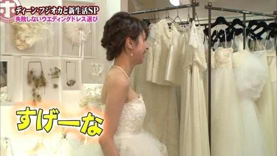 加藤綾子 Dカップ谷間をウェディングドレスで披露したキャプ 画像30枚 6