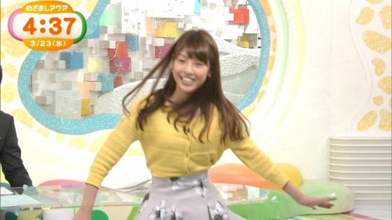 岡副麻希 黒い桐谷美玲めざましテレビのパンチラ寸前大開脚キャプ 画像20枚 5