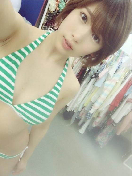 夏目花実 Twitterに投稿したBカップ水着姿の自画撮り 画像30枚 10