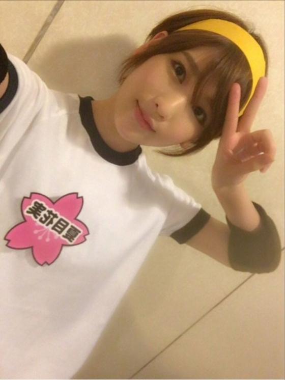 夏目花実 Twitterに投稿したBカップ水着姿の自画撮り 画像30枚 25