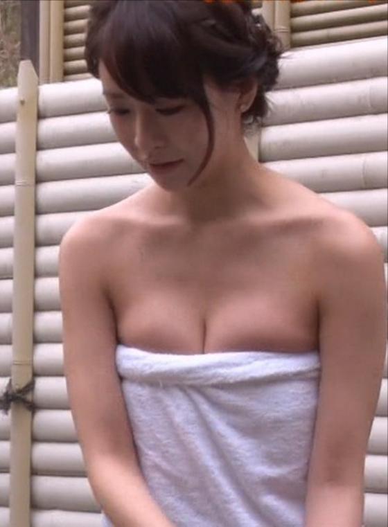 神室舞衣 Dカップ谷間を披露した温泉入浴キャプ 画像20枚 4