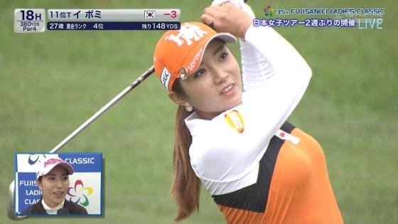 女子プロゴルフ 着衣巨乳やパンチラが悩ましいキャプ 画像32枚 1