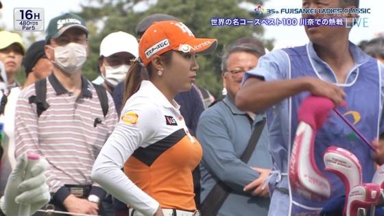 女子プロゴルフ 着衣巨乳やパンチラが悩ましいキャプ 画像32枚 2