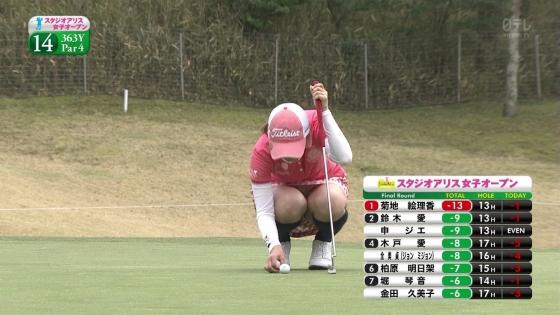 女子プロゴルフ 着衣巨乳やパンチラが悩ましいキャプ 画像32枚 8