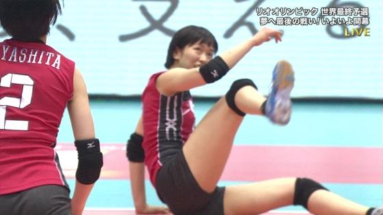 女子バレーボール日本代表の開脚股間とお尻キャプ 画像43枚 10