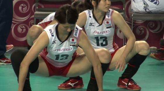 女子バレーボール日本代表の開脚股間とお尻キャプ 画像43枚 1