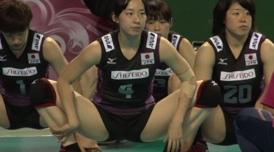 女子バレーボール日本代表の開脚股間とお尻キャプ 画像43枚 4