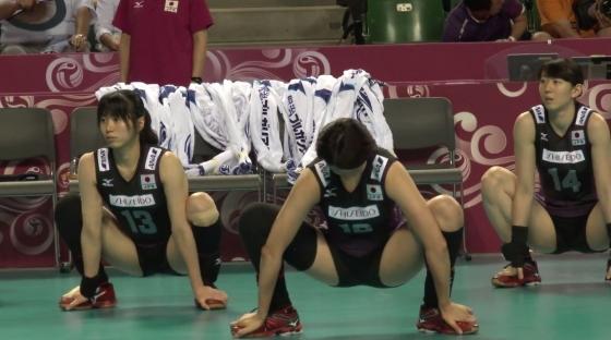 女子バレーボール日本代表の開脚股間とお尻キャプ 画像43枚 5