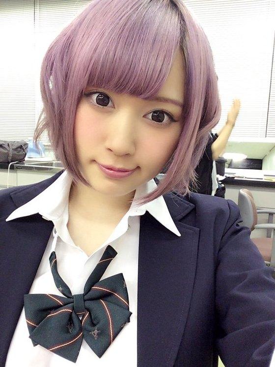御伽ねこむ 燐寸少女の金髪と紫髪制服コスプレ 画像25枚 2