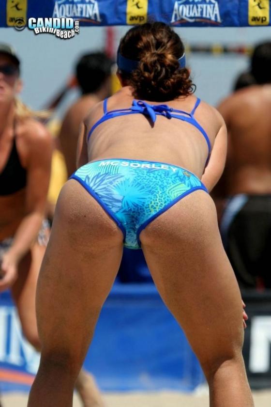 女子ビーチバレー選手のビキニ食い込みお尻&股間 画像33枚 3