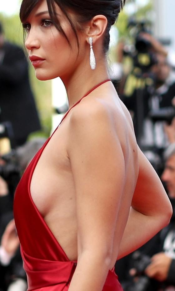 ベラ・ハディッド 陰毛と横乳がポロリしたカンヌのドレス姿 画像30枚 22