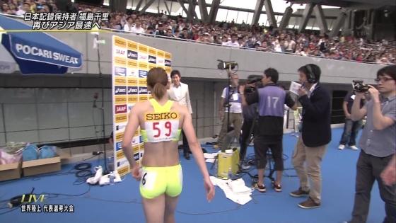 福島千里 腹筋とお尻の食い込みが素敵な競技中キャプ 画像19枚 17