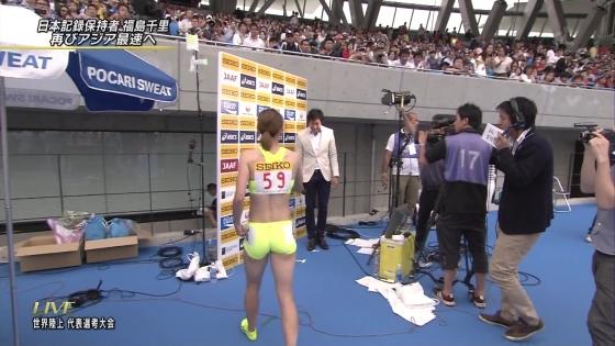 福島千里 腹筋とお尻の食い込みが素敵な競技中キャプ 画像19枚 18